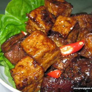 Stewed Pork Belly with Fried Tofu.