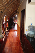 Photo: Hallway to kitchen on the houseboat tour