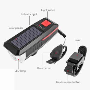 Far pentru bicicleta cu incarcare solara, model LY-17