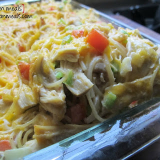 Baked Cream Cheese Chicken Spaghetti