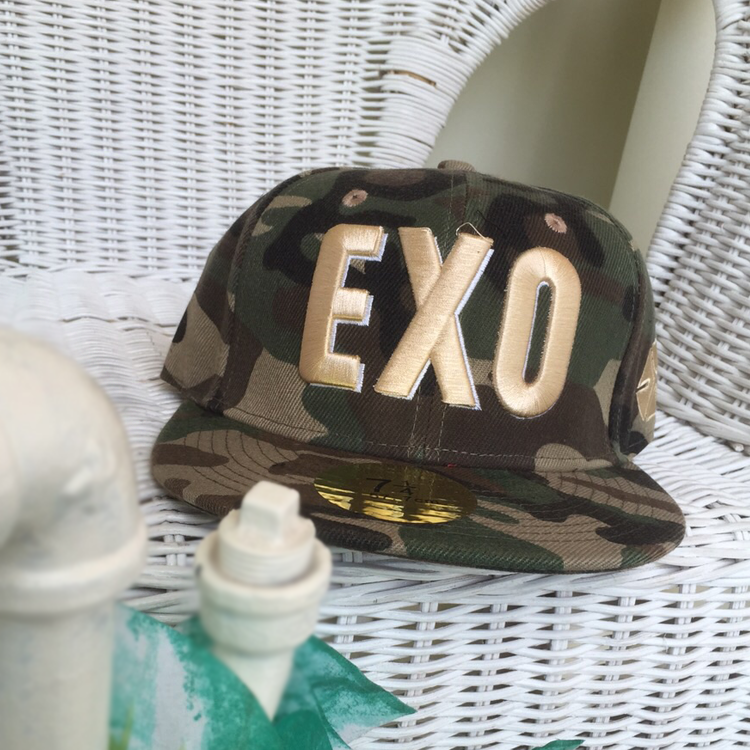 E Camouflage Snapback by Le Tea Boutique