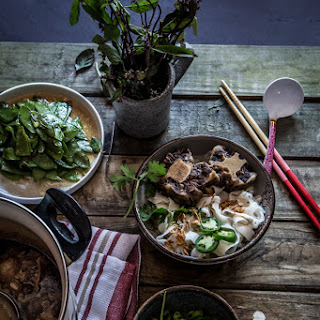 Slow-cooked Oxtails Noodle Soup