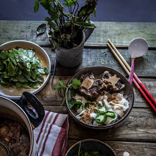 Slow-cooked Oxtails Noodle Soup.