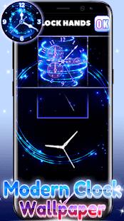 Modern Clock Wallpaper - náhled