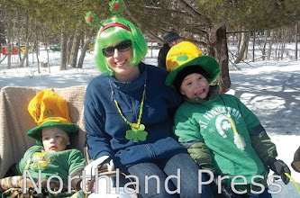 Photo: Brayden Sewall, 6, and Weston Sewall, 3, of Crosslake, both decked out in the St. Patty's Day gear waited patiently for the parade to begin - photo submitted. In last week's Northland Press, two children were incorrectly identified in the St. Patrick's Day Parade coverage. The above photo is the correct photo. Northland Press regrets the error.