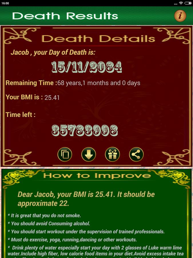 Death date calculator in Sydney