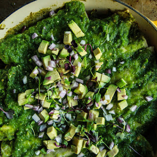 Vegan Green Enchiladas.