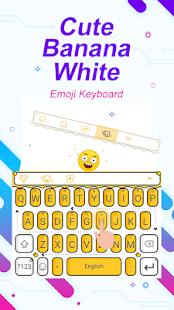 Cute Banana White Theme&Emoji Keyboard - náhled