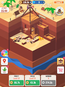 Idle Digging Tycoon Mod Apk 1.1.5 (Unlimited Money + Gems) 7
