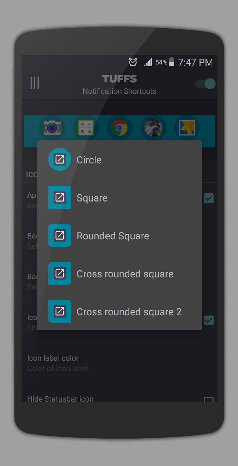 TUFFS Notification Shortcuts Screenshot 6