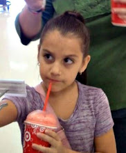 Photo: Our little shopper Isabella was enjoying her Icee.