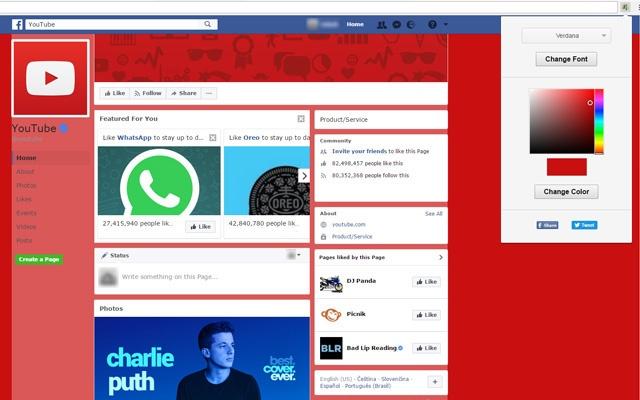 Facebook Color Font Changer Chrome Web Store