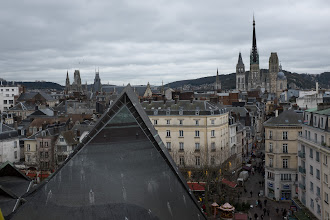 Photo: A few of the steeples of Rouen on France