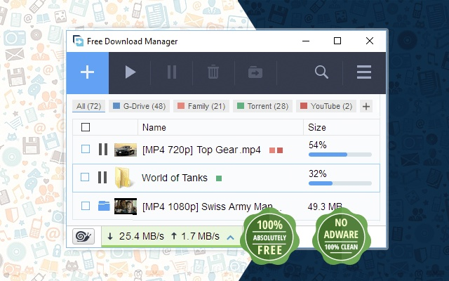 free download manager extension