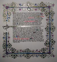 Photo: My second complete scroll, for my apprentice-sister, Camille des Jardins. That was a lot of gold!
