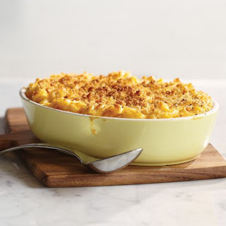 Macaroni with Cheese Sauce.