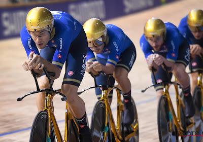 Filippo Ganna stuwt Italiaans team na olympisch goud ook naar WK-goud in Roubaix