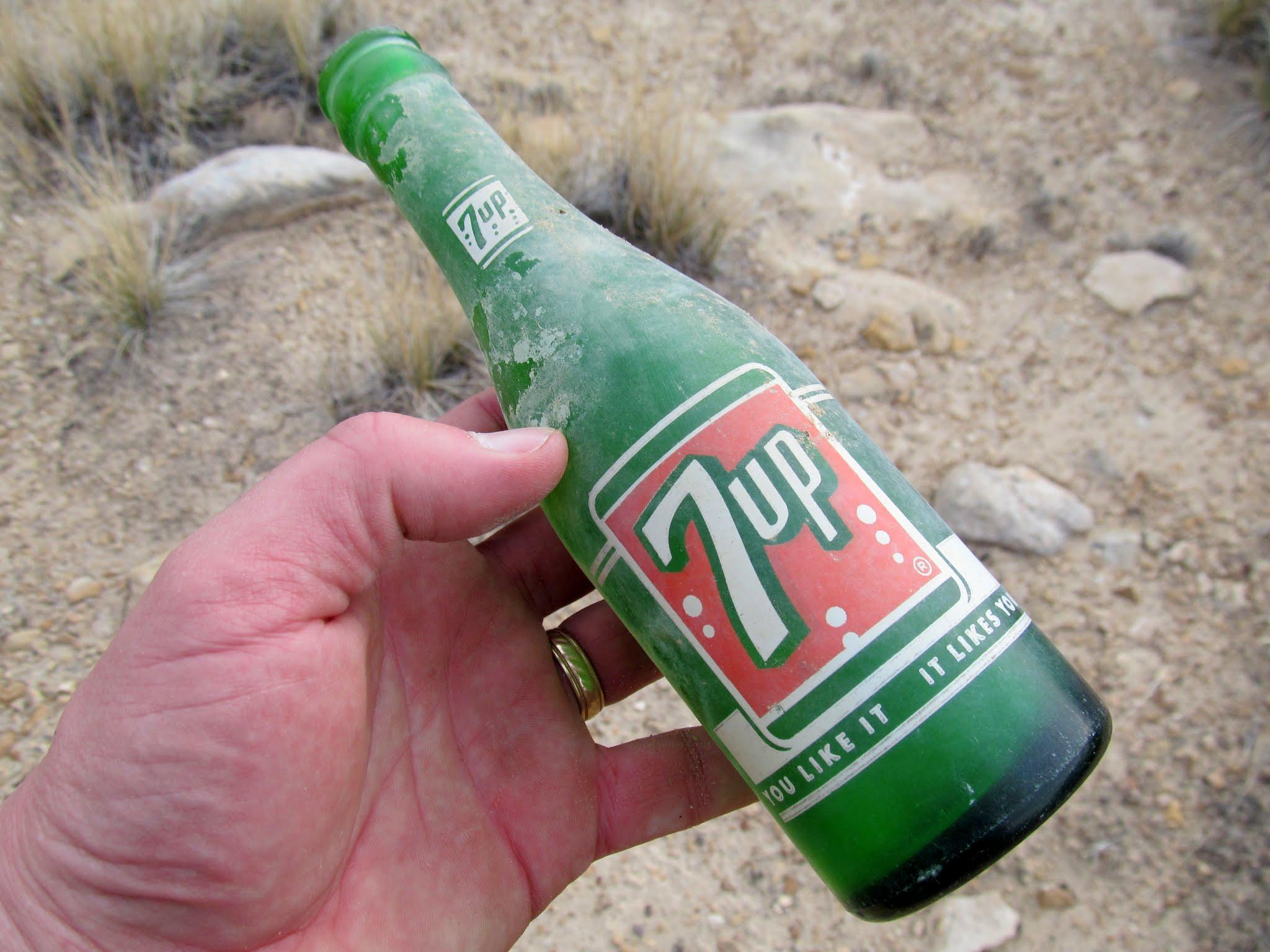Photo: Old 7Up bottle