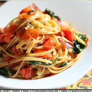 Truffle Linguine With Tomatoes and Pancetta