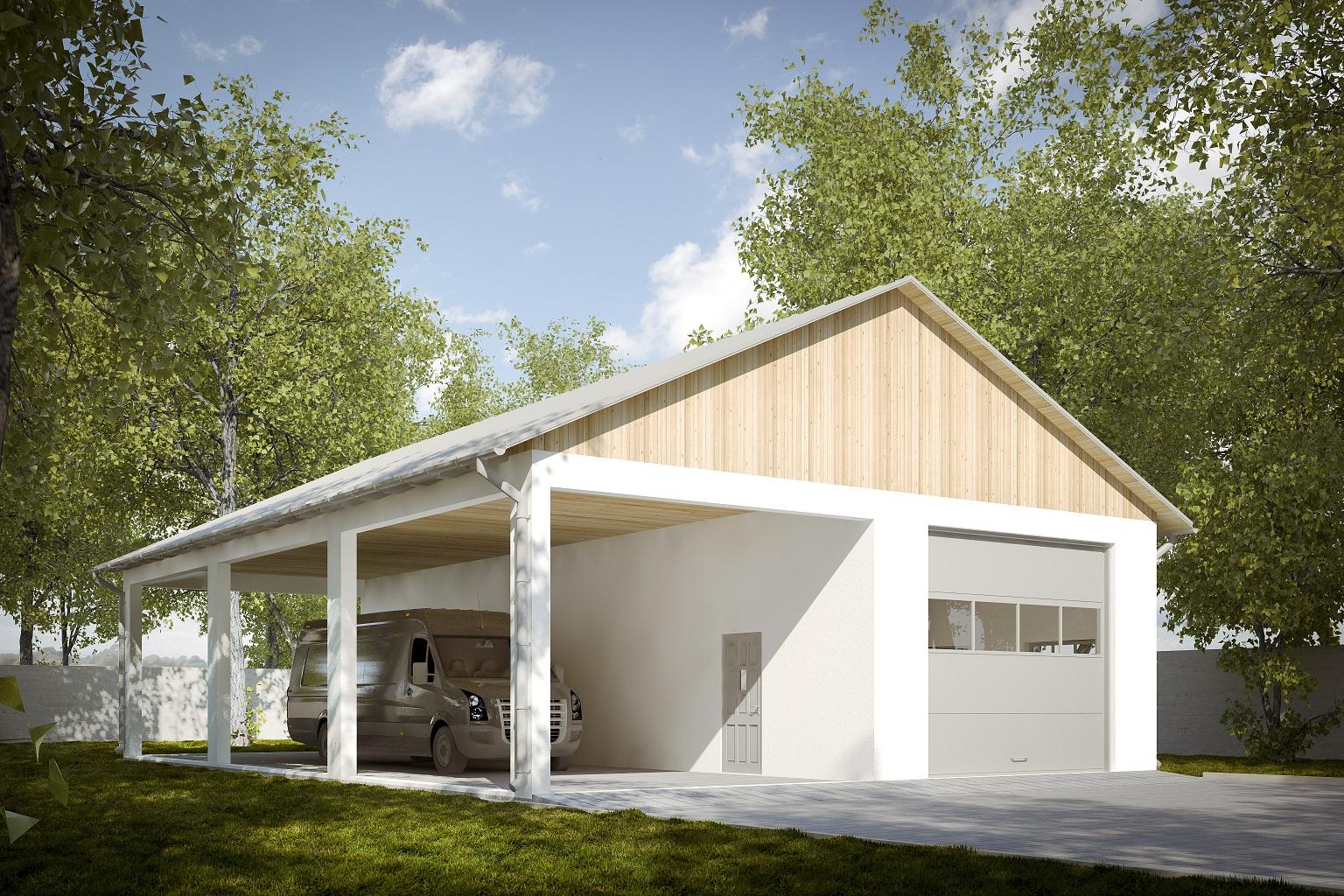 проект гаража из газосиликатных блоков