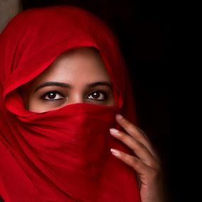 Stranger in the Mirror by Mmz Khan - People Portraits of Women