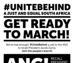 UniteBehind: March for ANC to recall President Zuma : Parliament of South Africa