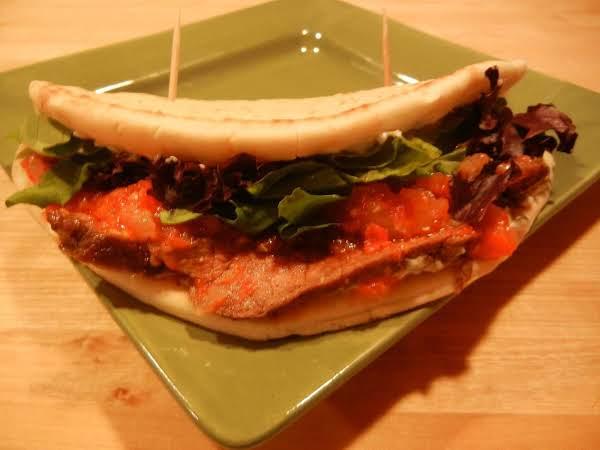 Spicy & Sweet Steak Flatbreads W/tomato Jam