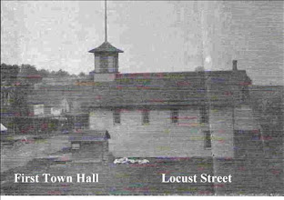Photo: First Town Hall was located on the south side of the center block