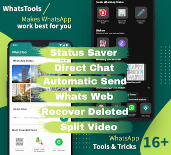 WhatsTools for WhatsApp Status Saver & Direct Chat Mod