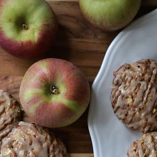 Iced Oatmeal Apple Toffee Cookies