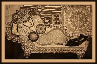 Photo: Antonio Berni Ramona en la ventana 1963. Xilocollage. Matriz xilográfica: 40 x 63,5 cm. Estampa: 65 x 95 cm. Colección particular, Buenos Aires. Expo: Antonio Berni. Juanito y Ramona (MALBA 2014-2015)