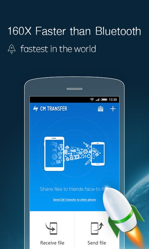 Screenshots of CM Transfer - Share files for Android