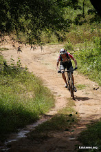 """Photo: first man on the """"singletrack""""."""