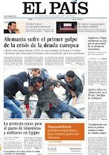 Photo: En nuestra portada del jueves 24 de noviembre: La crisis golpea a la sólida Alemania. Islamistas y militares pactan mientras se avivan las protestas del pueblo egipcio. http://www.elpais.com/static/misc/portada20111124.pdf