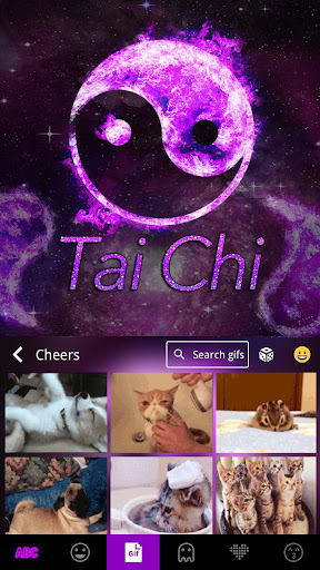 Tai Chi Emoji Kika Keyboard screenshot