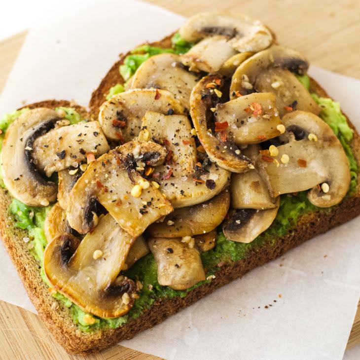 Garlic Mushroom Avocado Toast {Vegan}
