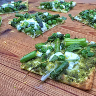 Spring Vegetable Flatbread Pizza.