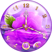 Purple Clock Live Wallpaper