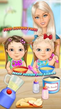 Sweet Baby Girl Twin Sisters