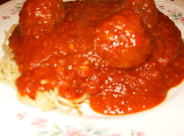 Homemade Italian Spaghetti Sauce And Meatballs Recipe