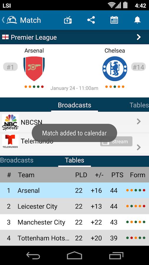 Live Soccer TV Schedules Guide- screenshot