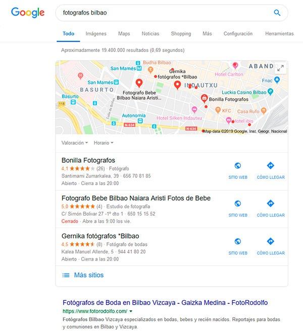 Posicionamiento Local Conquista internet Bilbao