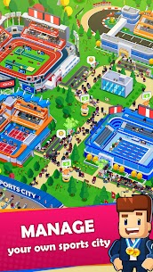 Sports City Tycoon MOD APK [Unlimited Money] Idle Sports Games Simulator 1.5.0 1
