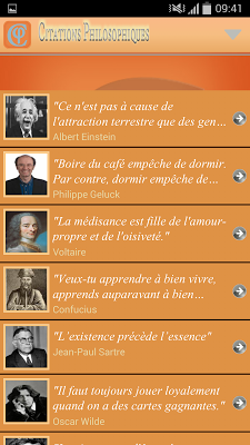 Citations philosophiques - screenshot