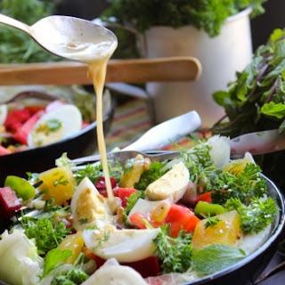 Crispy Vegetables and Egg Spring Salad.