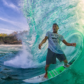 Mega Semadhi  by Trevor Murphy - Sports & Fitness Surfing ( water, wave, canon eos 7d  ef8-15mm f/4l fisheye usm, surf, man )