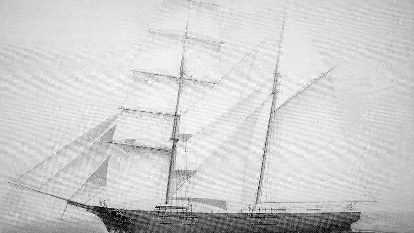 el bergantín era un barco de dos palos. Como este de la imagen era el Liberto.