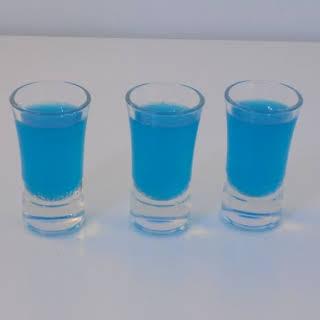 Blue Kamikaze Shots.