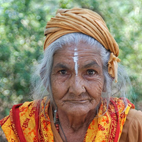 Brahma lady by Cathleen Steele - People Portraits of Women ( wise, brahma, lady, aged, nepal, elder,  )