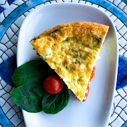 Roasted Tomato & Spinach Frittata
